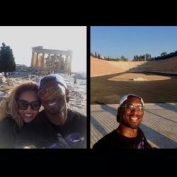 Ο Κόμπι και η Βανέσα Μπράιαντ πέρασαν και από την Αθήνα