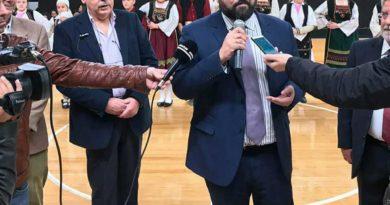 Έκοψε την πίτα του ο Απόλλων Πατρών, παρουσία του υφυπουργού Αθλητισμού Γιώργου Βασιλειάδη