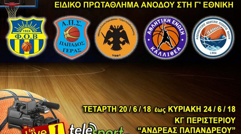 Το ειδικό πρωτάθλημα ανόδου σε livestreaming από το telesport.gr