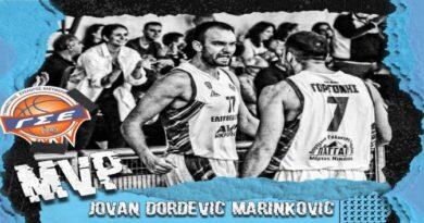 Ο Γιόβαν Μαρίνκοβιτς αναδείχθηκε MVP της 3ης αγωνιστικής της Α2